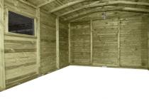 Do dyspozycji jest bardzo duża przestrzeń wewnątrz domku