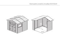 Domek ogrodowy narzędziowy bez podłogi MAXI 264x262 brązowy