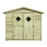 Drewniany domek narzędziowy bez podłogi MAXI