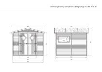 Domek ogrodowy narzędziowy bez podłogi MAXI 264x262