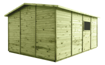 Domek narzędziowy z podłogą o powierzchni wewnętrznej 11 m2