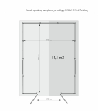 Wymiary podłogi wewnątrz JUMBO 388,4 cm x : 285,2 cm