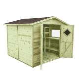 Domek ogrodowy narzędziowy MAXI PLUS 264x262, gont brązowy
