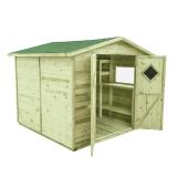 Domek ogrodowy narzędziowy MAXI PLUS 264x262, gont zielony