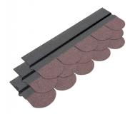 Gont w kolorze brązowym - estetyczne pokrycie dachu w domku drewnianym