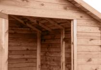 Domek ogrodowy z drewutnią został zaimpregnowany ciśnieniowo