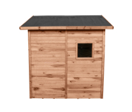 Schowek na narzędzia i akcesoria ogrodowe posiada dodatowe zabezpieczenie dachu w postaci papy bitumicznej