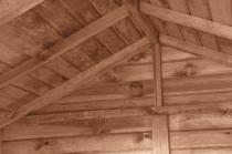 Domek narzędziowy z drewutnią, która pomieści 1,05 m3 drewna