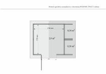 Domek posiada podłogę, której powierzchnia wewnętrzna wynosi 2,9m2