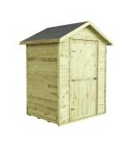 Domek MINI posiada podłogę na legarkach i papę bitumiczną na dachu