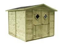 Impregnowany ciśnieniowo domek narzędziowy z drewna sosnowego