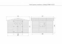 Domek ogrodowy narzędziowy z podłogą COMBO 333x327