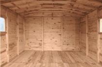 Domki z drewna sosnowego są idealne do ogrodu