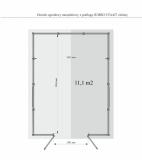Powierzchnia i wymiary podłogi w domku JUMBO