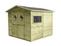 Domek ogrodowy narzędziowy z podłogą MAXI 264x262