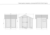 Wymiary domku EXCLUSIVE na rysunku technicznym