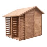 Domek ogrodowy z drewutnią EXCLUSIVE posiada grube ściany - aż 1,9 cm