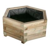 Donica drewniana 6-kątna 50x30x43