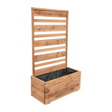 Donica drewniana z pergolą 153x88x40 brązowa