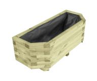 Donica drewniana 6-kątna 36x100x40