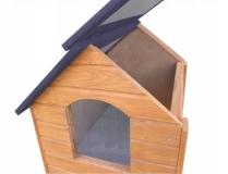 Drewniana buda dla psa M 50x65x54 ocieplana
