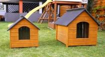 Drewniana buda dla psa XL 90x74x104 ocieplana
