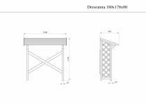 Wymiary drewutni: rysunek techniczny