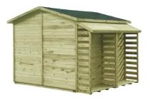 Wiata na drewno MAXI z ażurowymi ściankami i podłogą