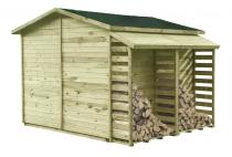 Doskonałe połączenie: domek MAXI + drewutnia MAXI