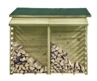 Miejsce do przechowywania drewna w ogrodzie