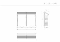 Drewutnia podwójna MAXI - rysunek techniczny