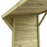 Mocna konstrukcja wiaty na drewno