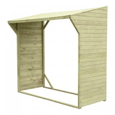 Drewutnia bez podłogi - miejsce do sezonowania drewna