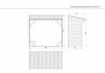 Rysunek techniczny drewutni