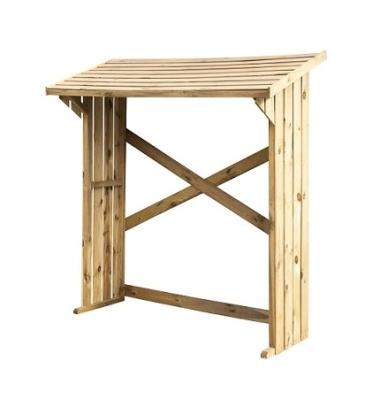 Drewutnia wiata na drewno bez podłogi 182x68 2m3