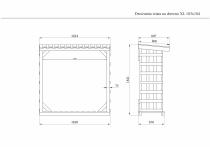 Wymiary drewutni 184x183x81 cm