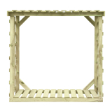 Stabilna konstukcja drewutni XL - przechowuj drewno w odpowiednich warunkach