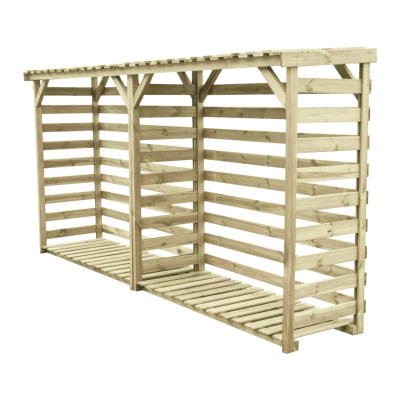 Podwójna drewutnia ogrodowa - pomieści dużą ilość drewna opałowego