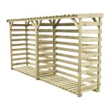 Drewutnia wiata na drewno XL podwójna 364x81 4,2 m2