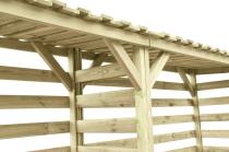 Wiata na drewno - duża