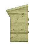 Wiata na drewno jest zaimpregnowana oraz posiada szczelne ściany i dach