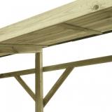 Drewutnia wykonana z drewna sosnowego o dużej pojemności