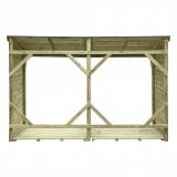 Drewniana wiata - bezpieczne przechowywanie materiału na opał