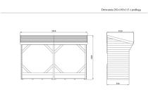 Wymiary drewutni: 185 x 281 x 113 cm (w/s/g)