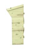 Ściany drewutni chronią drewno opałowe przed wilgocią