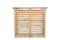 Drewutnia z podłogą 190x60 2m3 zabudowana + półki
