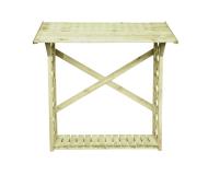 Wiata na drewno posiada wzmocniony tył dwiema deskami - konstrukcja jest solidna