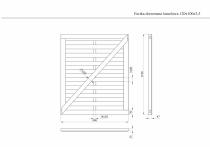 Wymiary furtki drewnianej lamelowej 120x100 cm