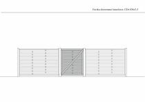 Rysunek techniczny furtki lamelowej 120 cm x 100 cm