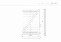 Wymiary furtki drewnianej lamelowej 1,5 x 1 metr